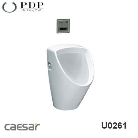 BỆ TIỂU NAM TREO TƯỜNG XẢ THẲNG CAESAR U0261