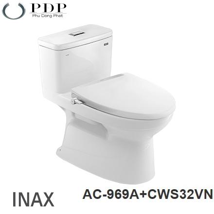 BỒN CẦU INAX AC-969A+ NẮP RỬA CƠ CW-S32VN