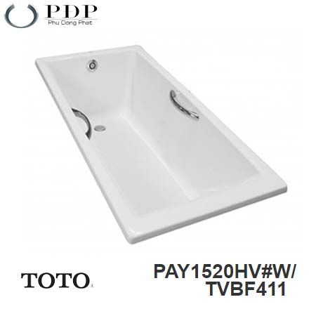 Bồn Tắm ToTo PAY1520HV#W/TVBF411 Xây 1.5M