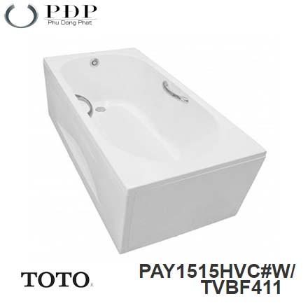Bồn Tắm ToTo PAY1515HVC#W/TVBF411 Chân Yếm 1.5M