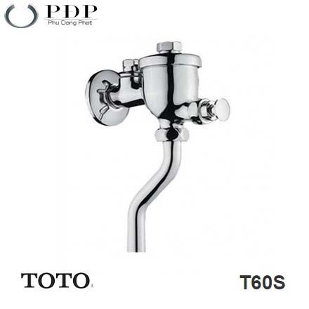 Van Xả Tiểu Nam Kiểu Nhấn Toto T60S